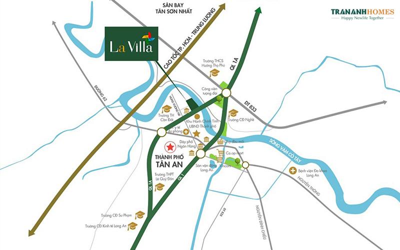 Vị trí dự án Lavilla City